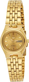 Seiko Women's SYMA04 Seiko 5 Automatic Gold Dial Gold-Tone Stainless Steel Watch
