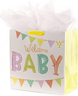 Hallmark Oversized Baby Gift Bag with Tissue Paper (Welcome)