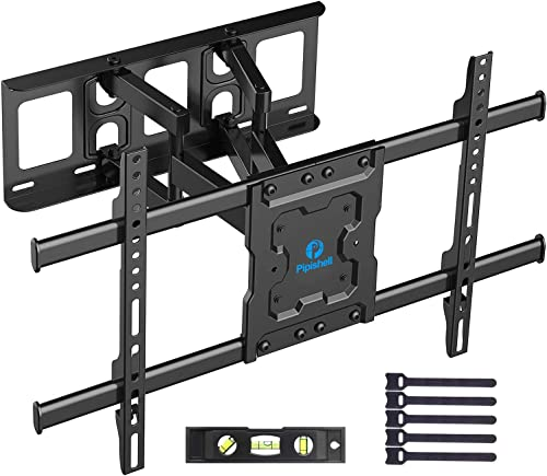 Full Motion TV Wall Mount Bracket Dual Articulating Arms Swivels Tilts Rotation for Most 37-70 Inch LED, LCD, OLED Fl...