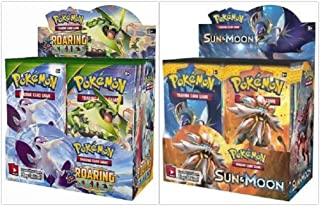 Pokemon Roaring Skies Booster Box and Sun & Moon Base Set Booster Box Bundle, 1 of Each
