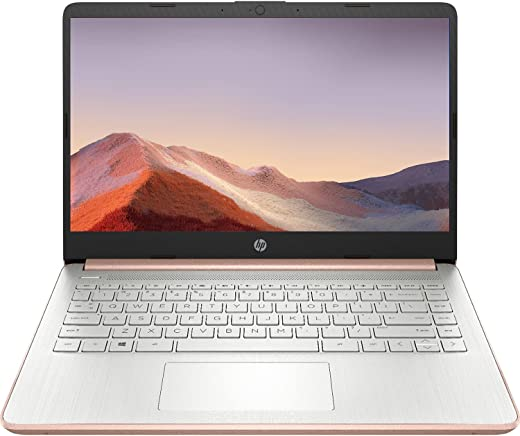 2021 Newest HP Premium 14-inch HD Laptop, Intel Dual-Core Processor Up to 2.8GHz, 8GB RAM, 64GB eMMC Storage, Webcam, Bluetooth, HDMI, Wi-Fi, Rose Gold, Windows 10 with 1 Year Microsoft 365