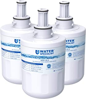Waterspecialist NSF 53&42 Certified DA29-00003G Refrigerator Water Filter, Replacement for Samsung DA29-00003B, RSG257AARS, RFG237AARS, HAFCU1, RS22HDHPNSR, WSS-1 (Pack of 3)
