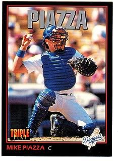 MIKE PIAZZA HOF LOS ANGELES DODGERS 1993 Triple Play #55