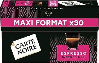 Carte Noire Café Espresso Intense N°9 Capsules Compatibles Nespresso, Paquets de 30 capsules