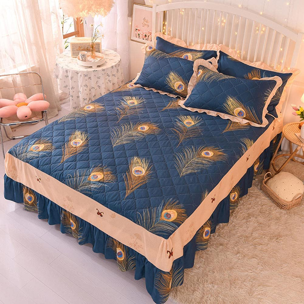 specialty shop Liyingying Cotton Twill Bed Skirt P Pastoral Lace Directly managed store Cover Mattress
