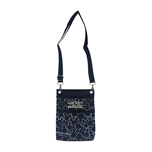 Disney Mickey Mouse Cross Body Shoulder Bag (Silver)