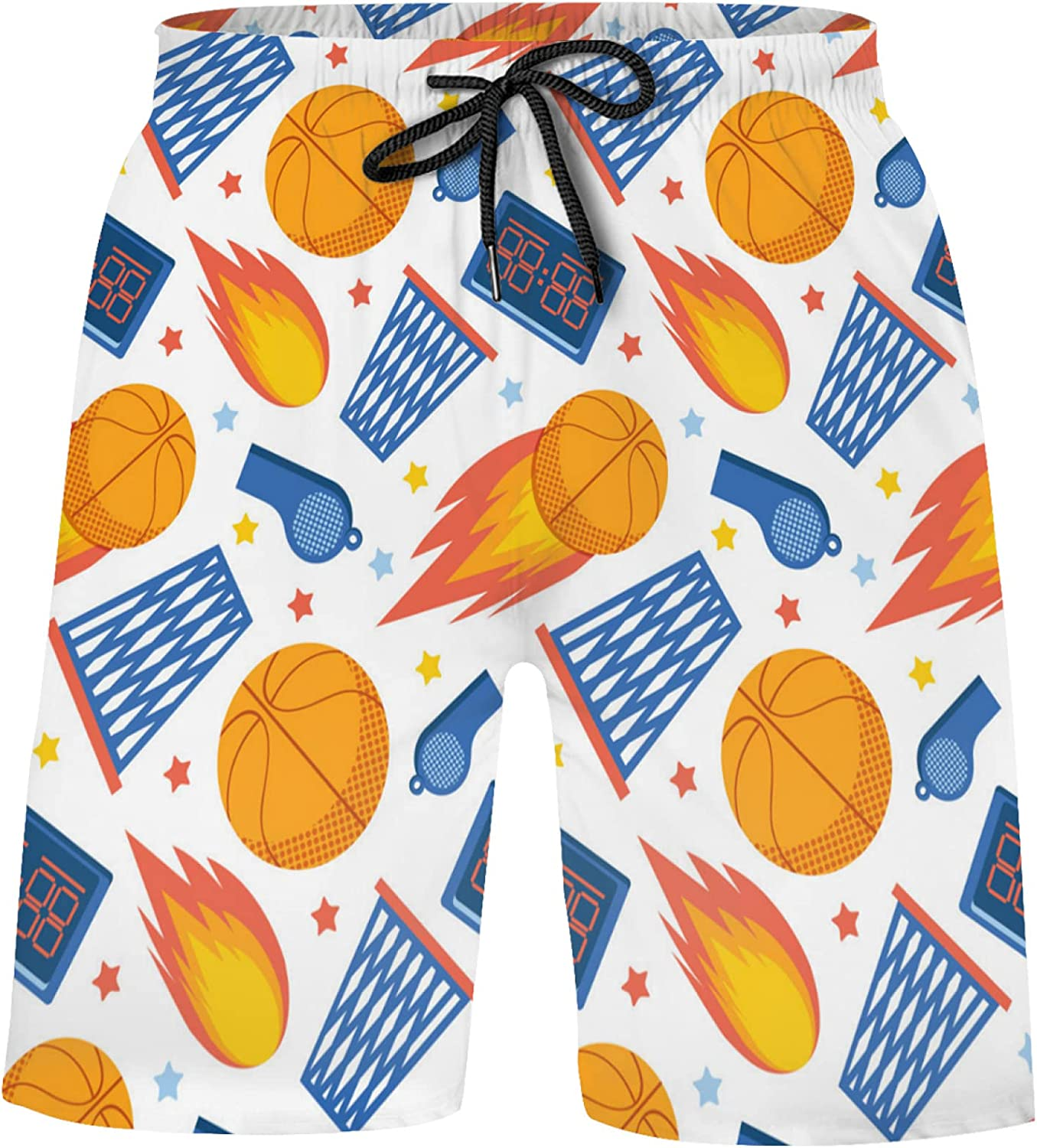 Basketball Basket New products world's highest quality popular Sports Ball On White Beauty products Trunks 50+ UPF Swim Boys