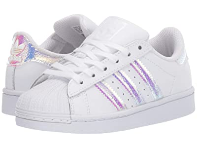 adidas Originals Kids Superstar (Little Kid) (White/White) Girls Shoes