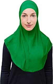 Women's Amira Hijab 2 Piece with Tube Under Scarf Cap- Soft Polyester Princess Ready to Wear Instant Scarf