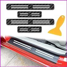 Longzhimei 4D Carbon Fiber Texture Door Sill Scuff Plate Door Sill Threshold For SUZUKI Grand Vitara Swift Alto 4Pcs