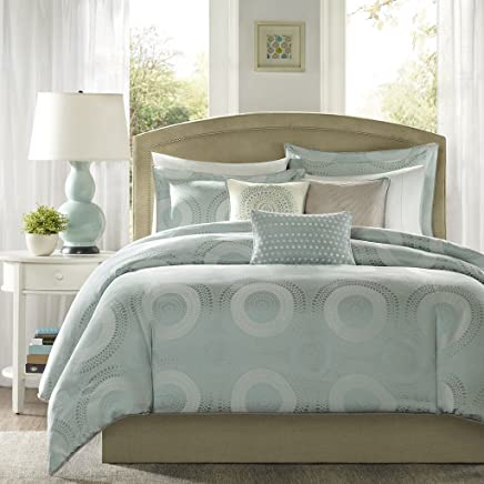 featured product Madison Park Baxter 6 Piece Duvet Cover Set Blue Full/Queen