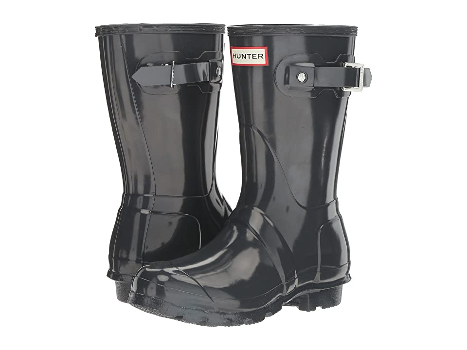 Hunter Original Short Gloss Rain Boots (Dark Slate) Women