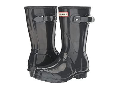 Hunter Original Short Gloss Rain Boots (Dark Slate) Women
