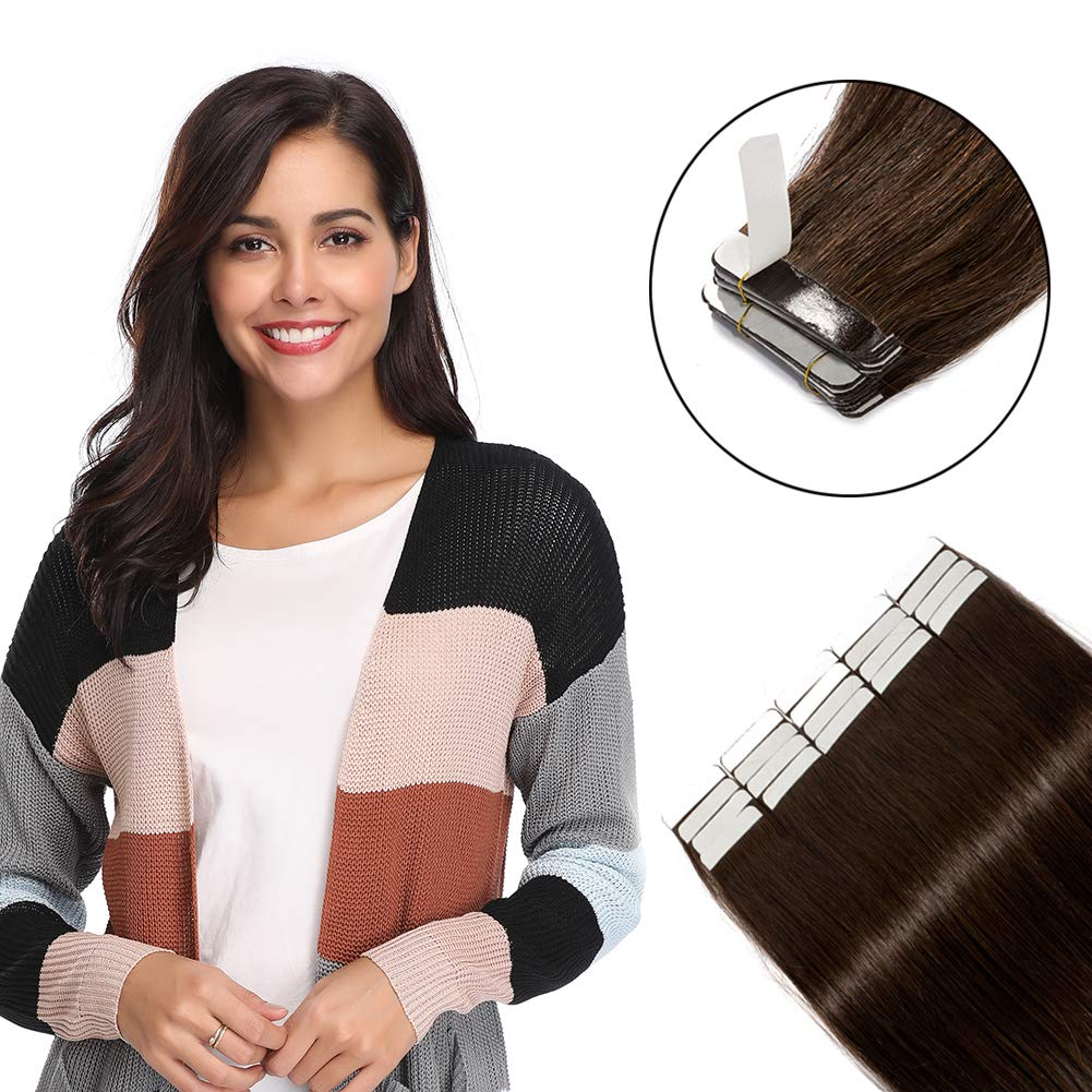 Tape in Hair Extensions Super intense SALE 100g 40 Don't miss the campaign Pieces Human 100% Remy 16