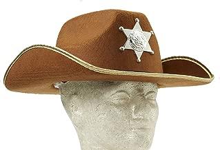 Forum Novelties Child Brown Cowboy Hat w/Badge
