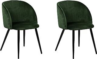 La Silla Española Daroca Silla, Telas, Verde Botella, 51,5cm (Ancho) x 56,5cm (Fondo) x 88,5cm (Alto)
