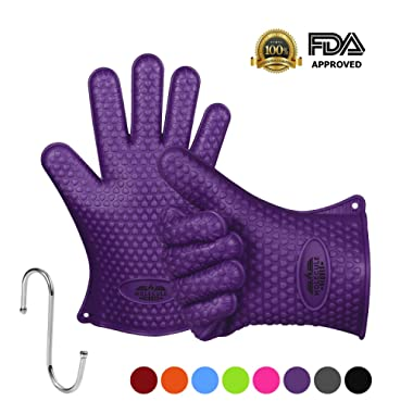 Molecule Gloves Kitchen Gloves-Heat Resistant Grilling BBQ-New Protective Oven- Grill, Baking, Smoking and Cooking Gloves