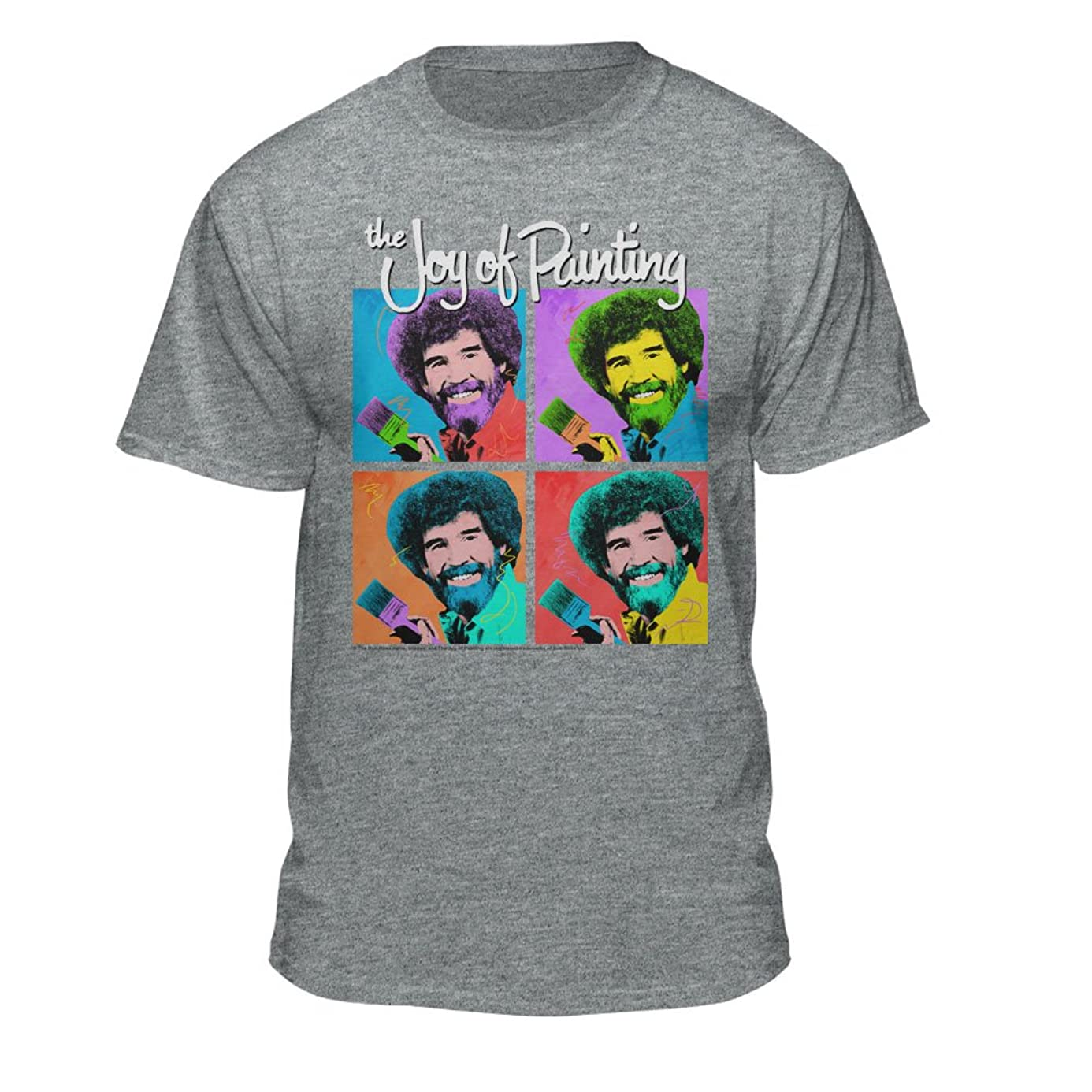 Bob Ross The Joy of Painting Colorful Faces Officially-Licensed T-Shirt