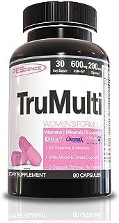PEScience TruMulti Women's, Multivitamin with Premium Quality Vitamin C, D, Zinc for Immune & Stress Support, 90 Capsules