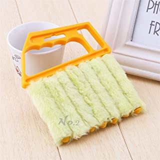 No.2 Warehouse Practical Mini-Blind Cleaner Brush Vertical Window Blinds Brush Cleaner Mini 7 Shape Handheld Magic Blind Cleaning Brush Novelty Household Tool for Shutter