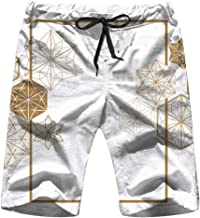 Cool pillow Japanese Gold Geometric Men'S Swim Trunks and Workout Shorts Swimsuit Or Athletic Shorts - Adults Boys