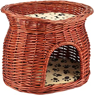2 tier wicker cat basket