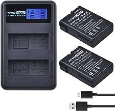 PowerTrust 2-Pack EN-EL14 EN-EL14A Fully Decoded Battery and LCD Dual USB Charger for Nikon D90, D300, D5500, D5300, D5200, D5100, D3400, D3300, D3200, D3100, DF DSLR, Coolpix P7700, P7000, P7800