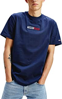 Tommy Jeans Men's TJM Embroidered Box Logo Tee T-Shirt