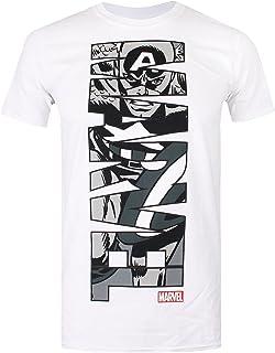 Marvel Captain America Vertical Camiseta para Hombre