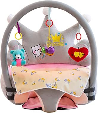 huabingz Baby Sofa Toys, Baby Sofa Support Seat Cover Learning to Sit Plush Chair, Soft Cute Animal Floor Seats Suitable for