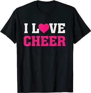 I Heart Love Cheer - Cheerleading Cheerleader Tumble Quote T-Shirt