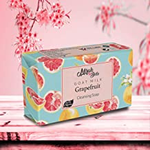 Mirah Belle - Organic Goat Milk, Grapefruit Cleansing Soap Bar (75 GMS) - Acne, Blemishes, Blackheads, Scars - Healing and Purifying