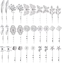 inSowni 30 Pack/15 Pairs Silver Retro Vintage Metal Bobby Pins Hair Clips Barrettes Accessories Leaf Bow Flower Butterfly ...