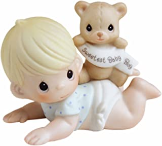 Precious Moments, The Sweetest Baby Boy, Bisque Porcelain Figurine, Boy, 101500