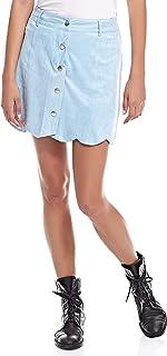 Brave Soul A Line Skirt for Women - Blue M