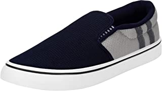 2ROW Men's Mesh Dark Blue & Grey Loafers