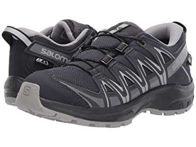 Salomon Kids XA Pro 3D CSWP Nocturne (Little Kid/Big Kid) (Ebony/Alloy/Quiet Shade) Kid