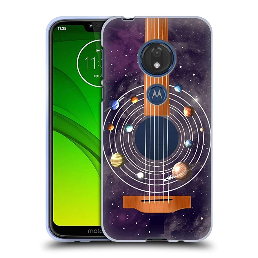 Head Case Designs Guitar Space Music Soft Gel Case Compatible for Motorola Moto G7 Play