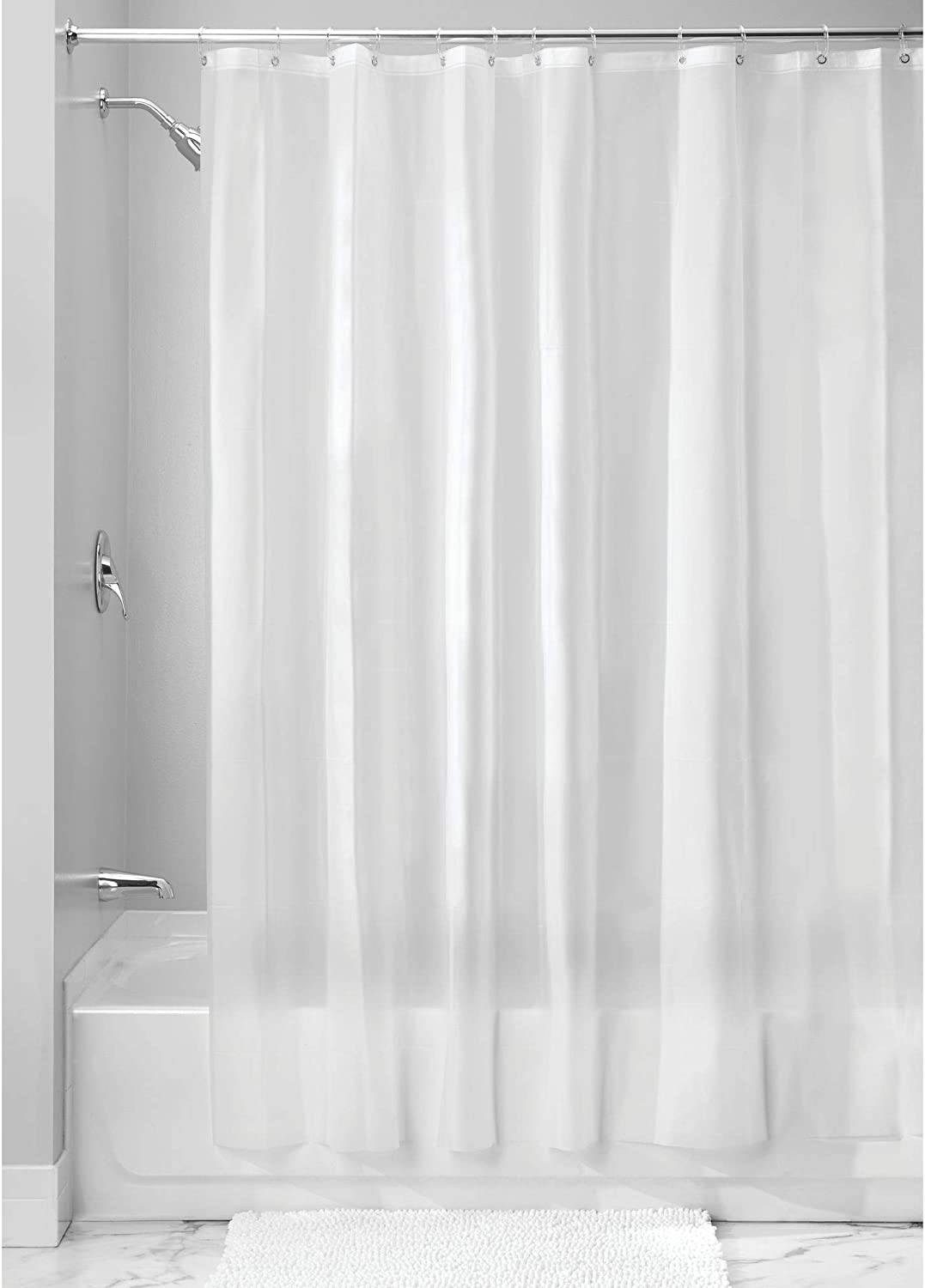 iDesign EVA Plastic Shower Curtain Liner Resist Seattle Mall Free shipping anywhere in the nation Mildew and Mold