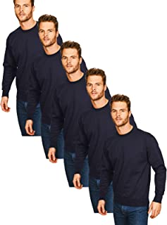Casual Classics Pack-5 Mens Long Sleeve Sweatshirt