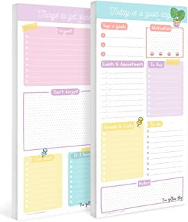 Set de planner diario y lista de pendientes, planificador por día sin fecha, de tareas, daily desk planner, planeador por ...