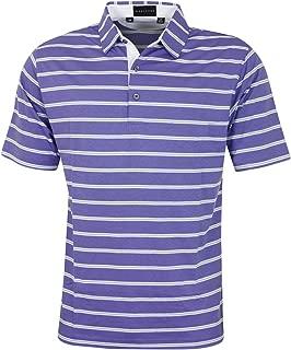 Bobby Jones Mens Performance Blend Stripe Golf Polo Shirt