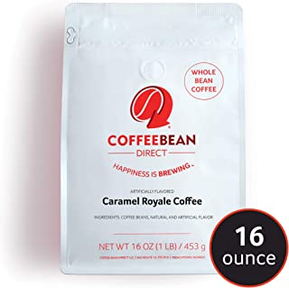 Coffee Bean Direct Caramel Royale Flavored, Whole Bean Coffee, 16-Ounce Bags (Pack of 3)