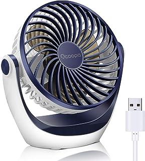 OCOOPA Ventilateur de table avec ventilateur de bureau USB avec débit d'air puissant et fonctionnement silencieux, vitesse...