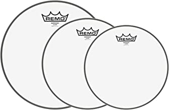 Remo 10/12/16 Emperor Clear Drumhead (3 Pack Bundle)