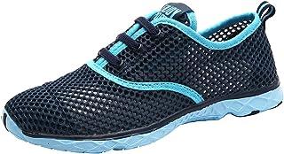 KAMIXIN Chaussures Aquatiques Homme Chaussures deau Femme Chaussures de Plage Chaussures de Yoga Plong/ée Surf Piscine Pieds Nus /à s/échage Rapide Enfants Slip-on Chaussettes de Sport Aquatique