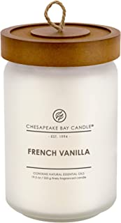 Chesapeake Bay Candle Scented Candle, French Vanilla, Large Jar, White