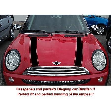 Streifen Stripes Aufkleber Motorhaube Für R50 R52 Mini Cooper Schwarz Design 2 Auto