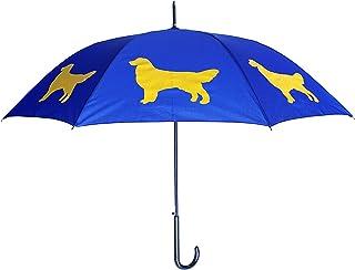 The San Francisco Umbrella Company Golden Retriever Stick Umbrella, Navy Blue/Gold (Multi) - 387