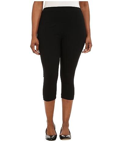 Lysse Plus Size Cotton Capri 12150 (Black) Women